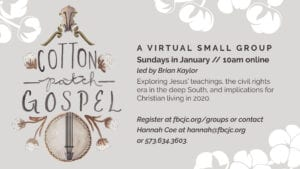 Cotton Patch Gospel Week 2
